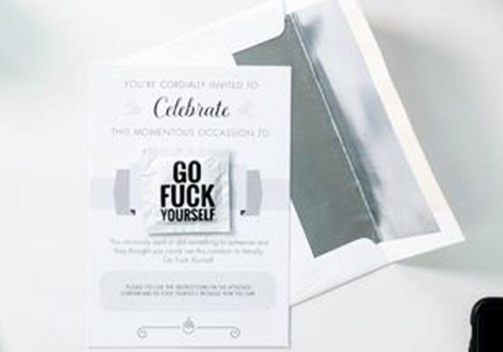 Funny Condoms Go Fuck Yourself Card Contraceptives
