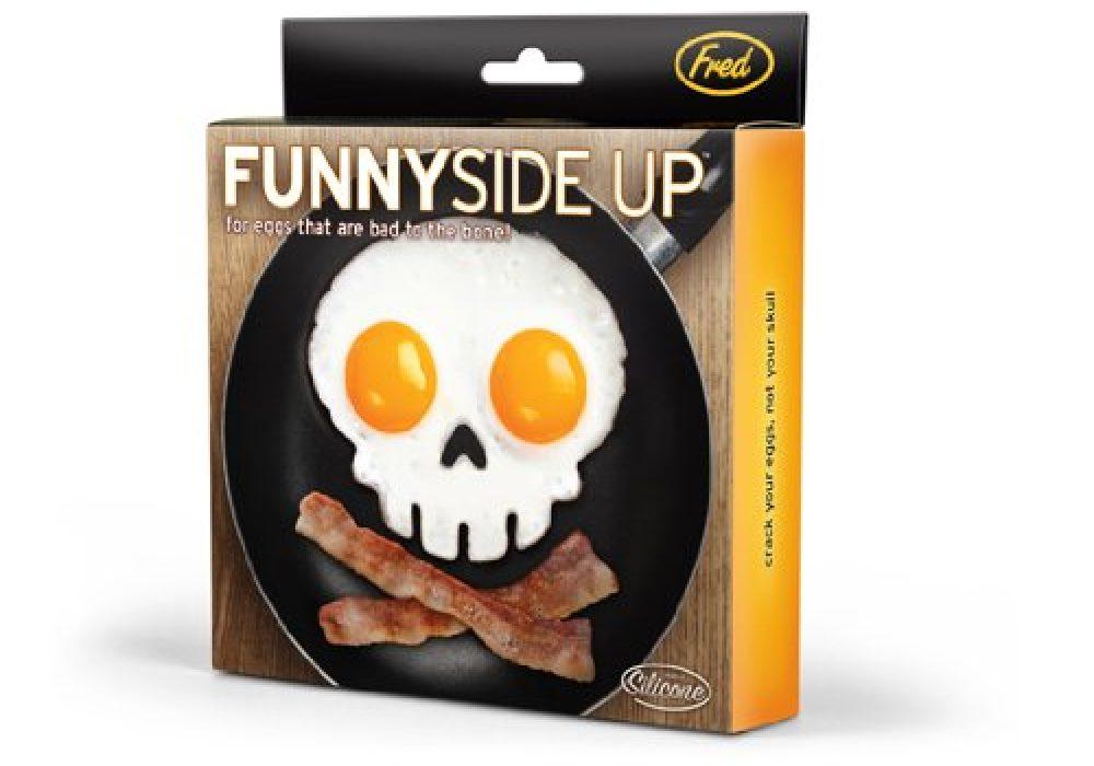 Funny Side Up Skull Shaped Mold Box