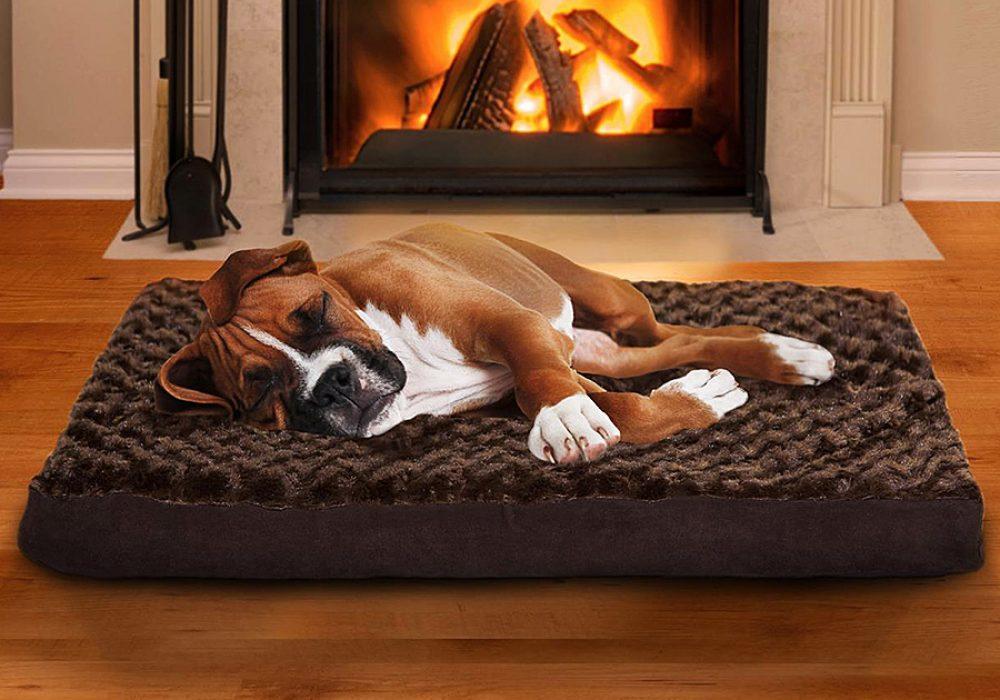 Furhaven Pet Orthopedic Pet Bed Mattress Plush Faux Fur Fabric