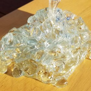 GOLD FLAKE FISHBOWL clear slime