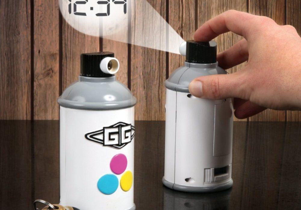 Gamago Spraycan Projection Clock Fun Cheap Gift Idea