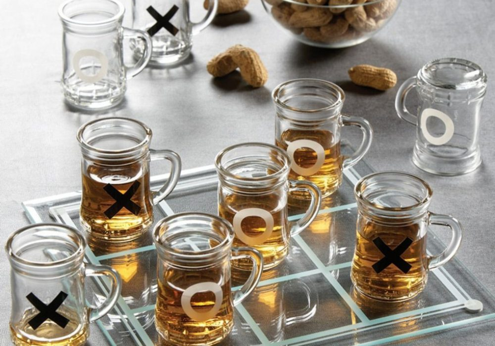 Game Night Tic Tac Toe Drinking Shot Glass Set Cool Gift to Buy