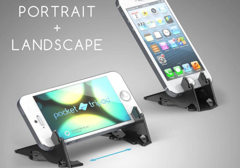 Geometrical Pocket Tripod for iPhone Mobile Stand to Buy