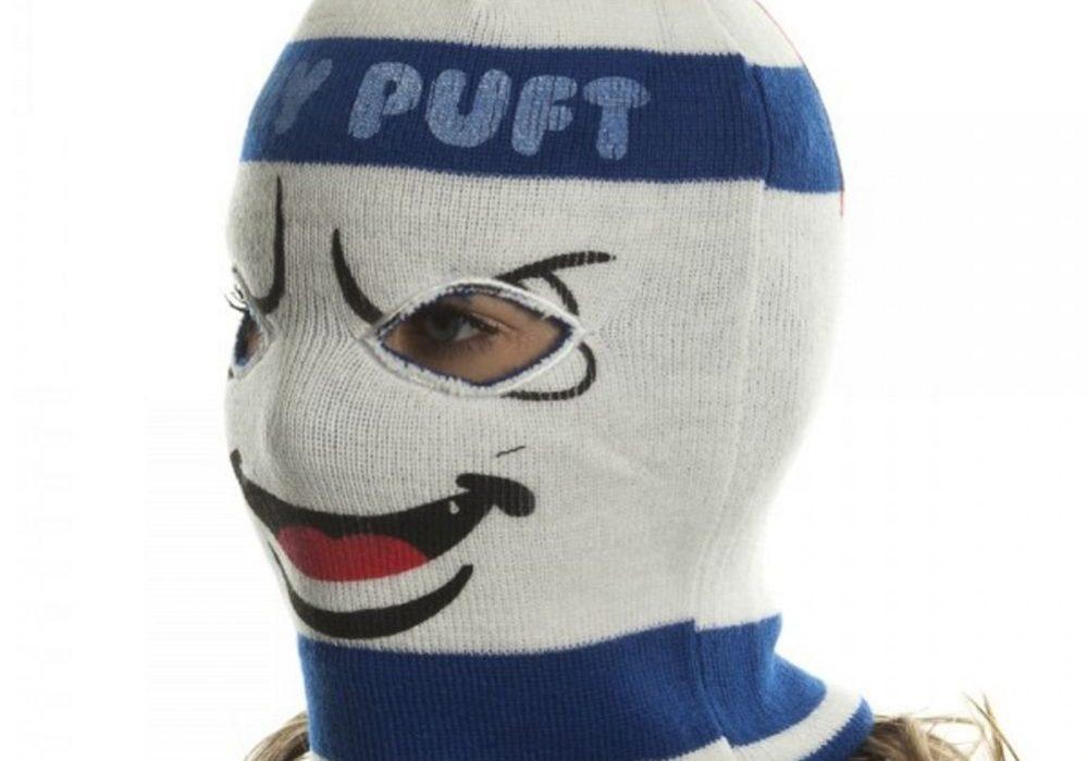 Ghostbusters Stay Puft Marshmallow Man Ski Mask Geek Retro Winter Gear