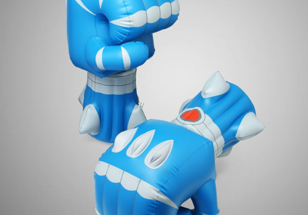 Giant Robot Battle Fists Blue and Spiky
