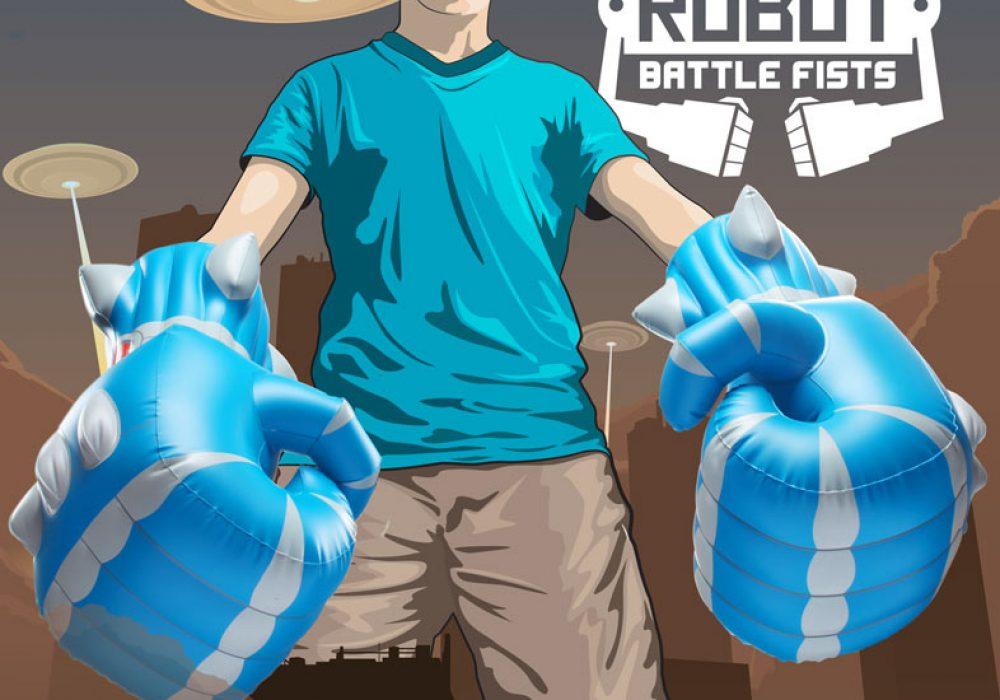 Giant Robot Battle Fists Poster Boy