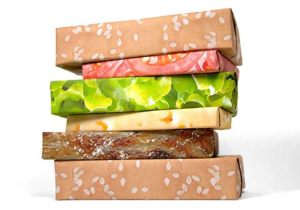 Gift Couture Cheeseburger Wrapping Paper Cool Gift to Buy