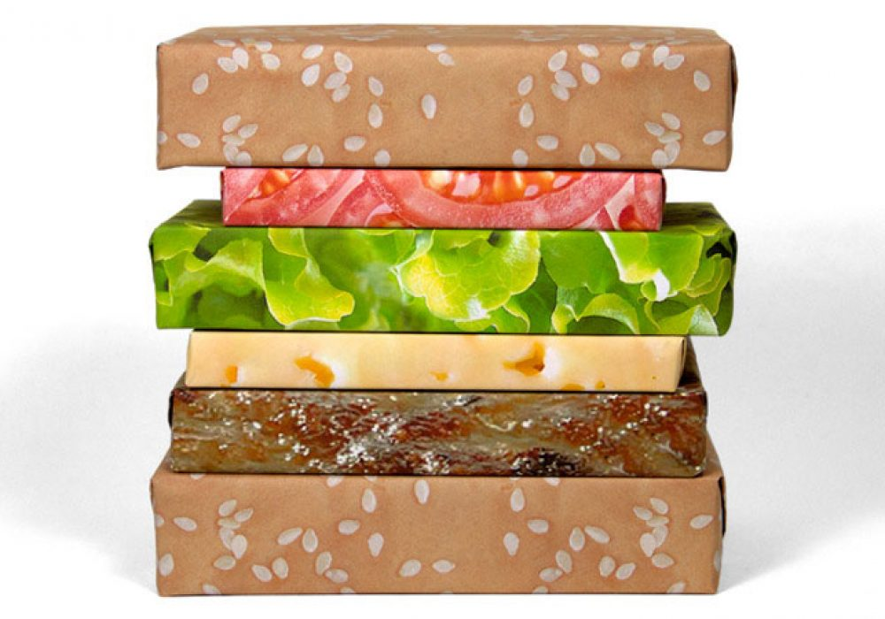 Gift Couture Cheeseburger Wrapping Paper Novelty Gift Wrap