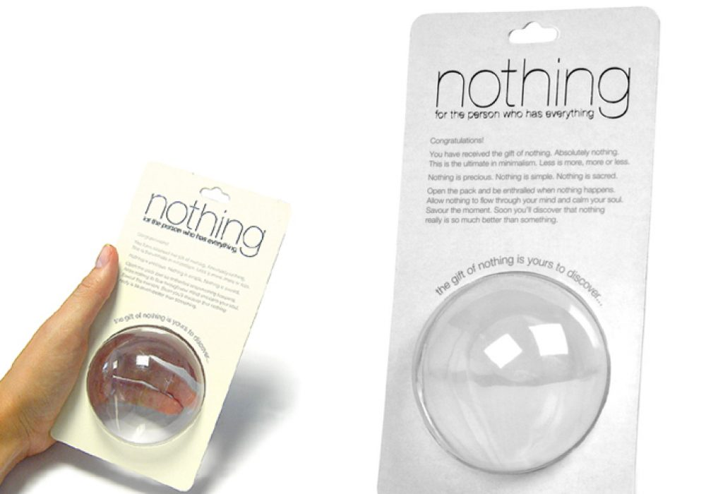 Gift of Nothing Gag Funny Gift