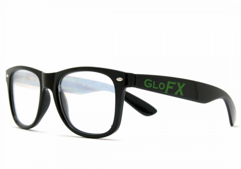 GloFX Ultimate Diffraction Glasses Black