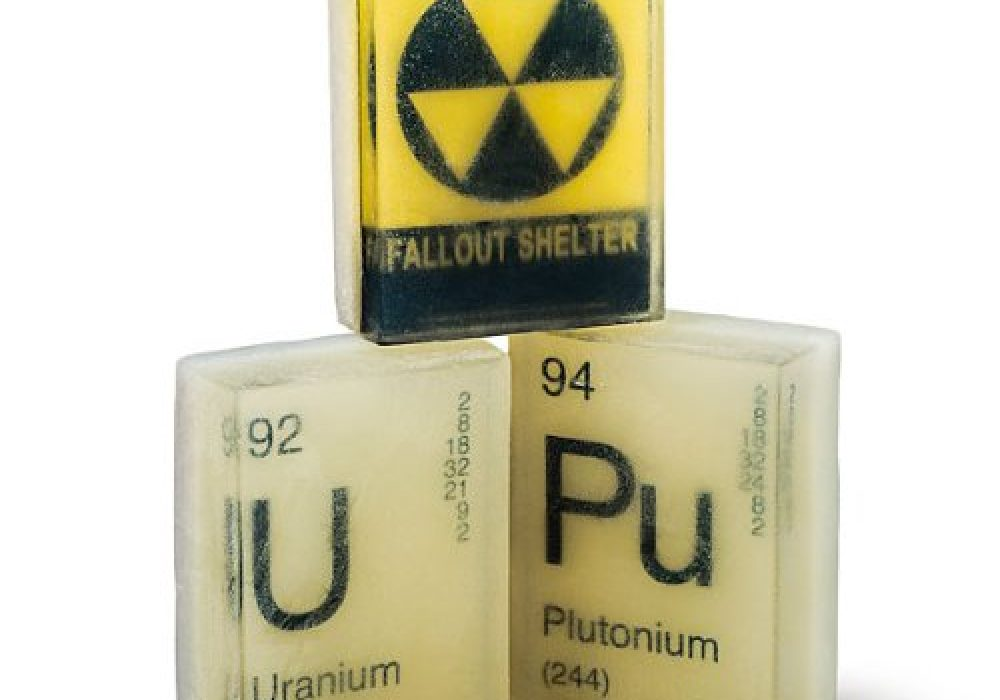 Glow-in-the-Dark Nuclear 3 PACK Element Soaps Radioactive