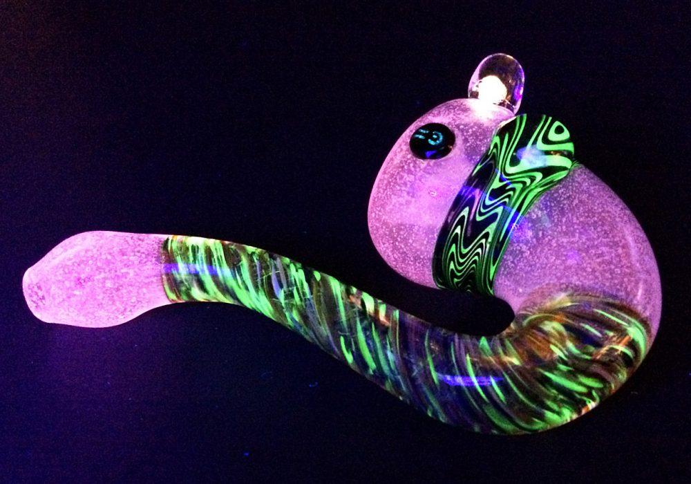 Glowin Glass Agent Orange Glowing Pipe Gift Idea For Him