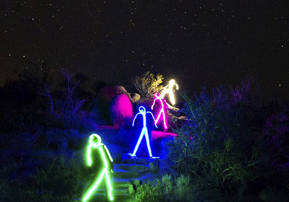 Glowy Zoey Adult LED Stickman Costume Stick Figures