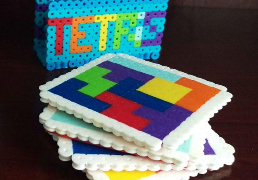 Good Golly Mister Tetris Themed Coasters Gift Idea