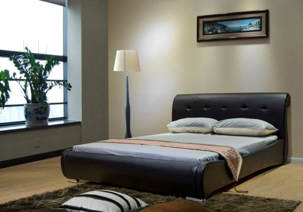 Greatime Bed with Hidden Storage Space Modern