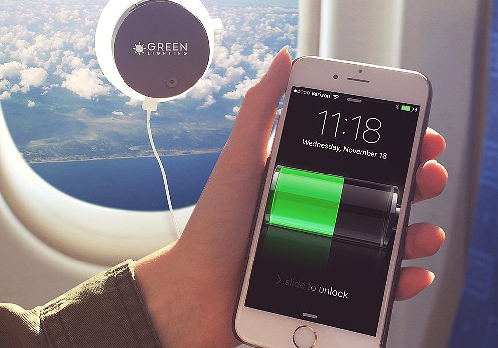 Green Lighting Solar Phone Charger Gift Idea for Techie People