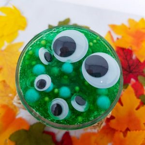 Green Monster Clear Unscented Halloween Slime