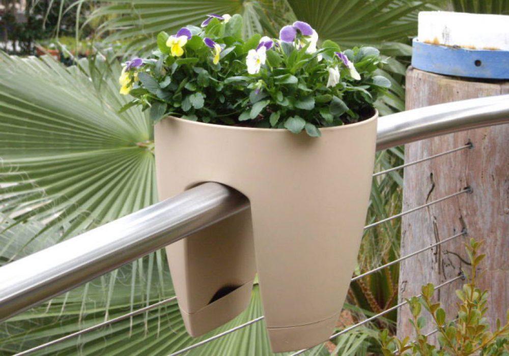 Greenbo Designer Railing Planter Unique House Warming Gift Idea