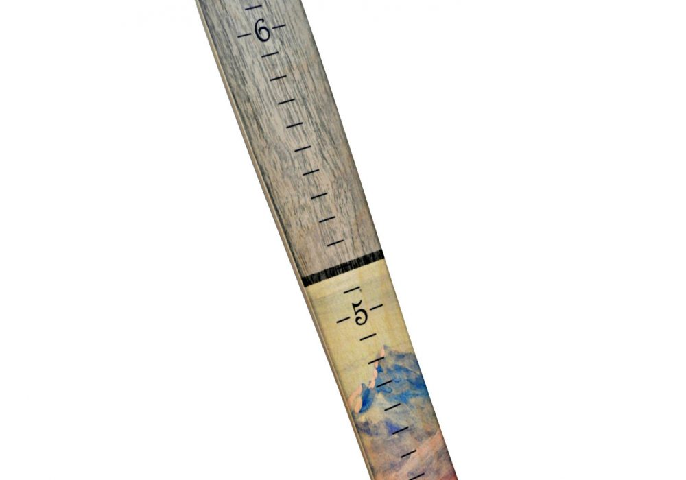 Growth Chart Art Wooden Ski Growth Chart Mountain Artwork