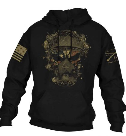 Men Hoodies & Sweatshirts Grunt Style American Skull Soldier Chemical Reaper
