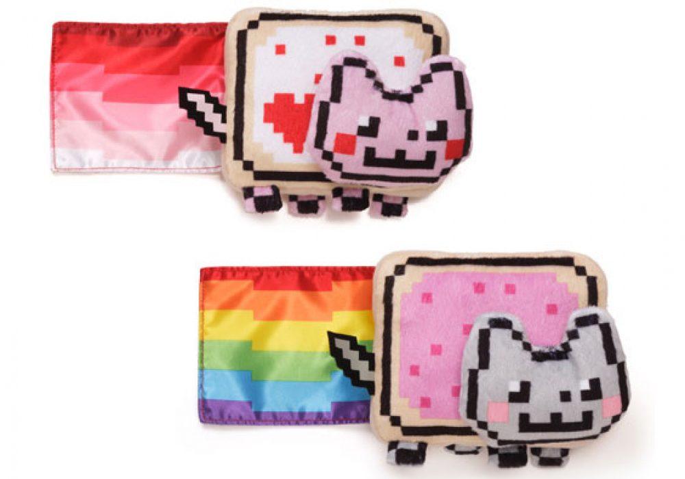 Gund Nyan Cat 6 inch Plush with Sound Cute Rainbow Feline Meme Stuff Toy