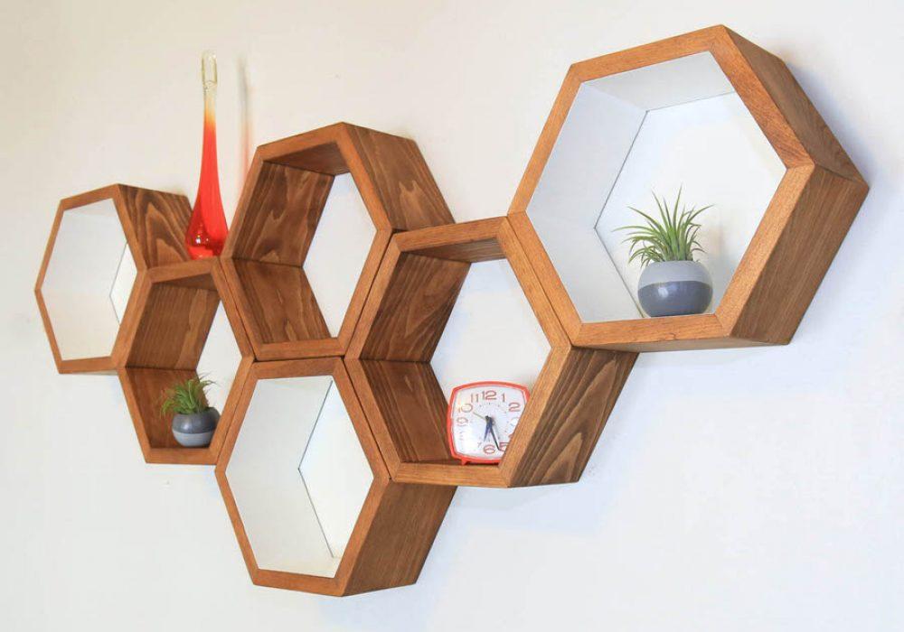 Haase Handcraft Honeycomb Shelving Cool Home Fixture