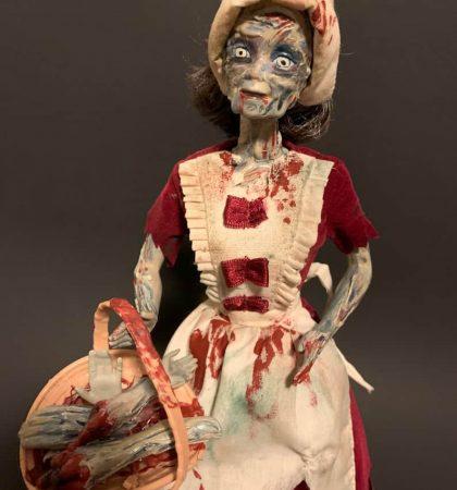 Hand Maid Pilgrim Zombie Horror Barbie Art Doll