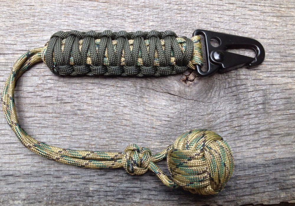 Handmade by Hurley Paracord Monkeyfist with HK Hook Emergency and Survival Tool