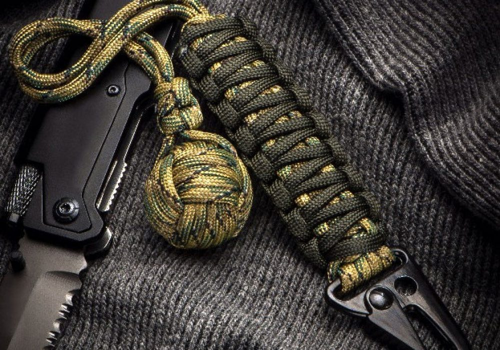 Handmade by Hurley Paracord Monkeyfist with HK Hook Self Defense