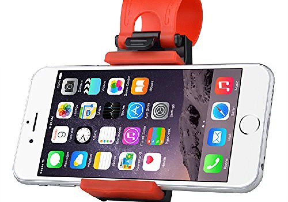 Hands Free Steering Wheel Phone Holder Gadget Accessory