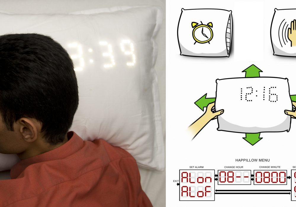 Happillow Alarm Clock and Snore Detecting Pillow Novelty Item