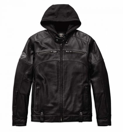 Men Hoodies Harley-Davidson Swingarm 3-in-1 Leather Jacket