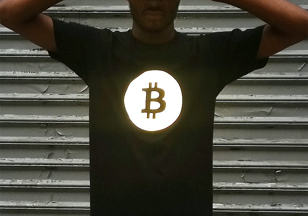 Heisel APP-009 Bitcoin Tee with Black Reflective Cool Gift Idea for Him