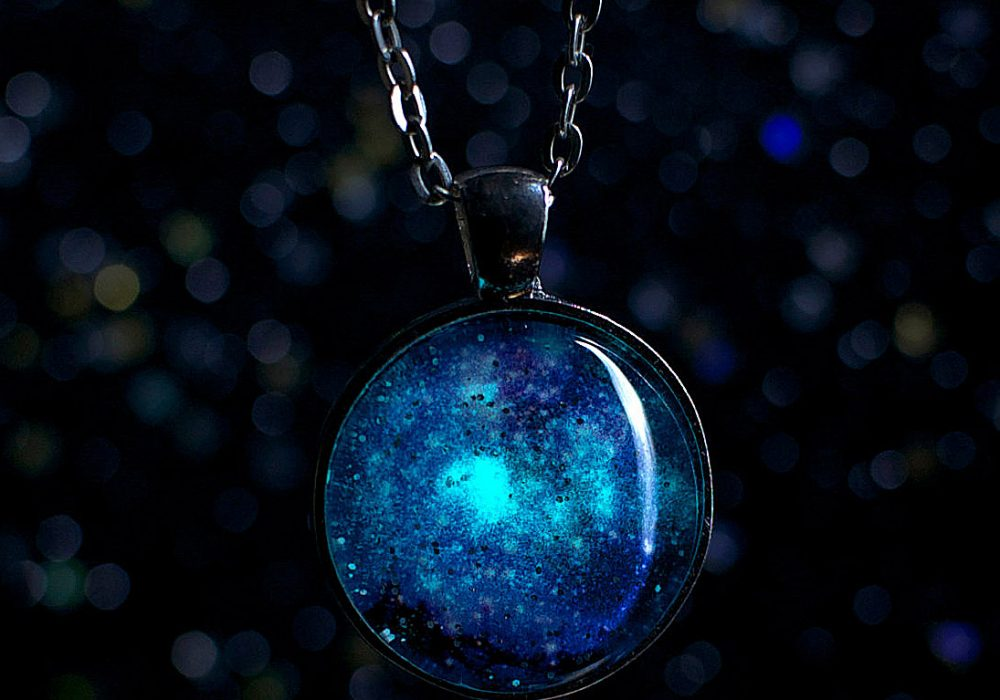 Hexafauna Glow in the Dark Galaxy Necklace Cute Fahion Accessory