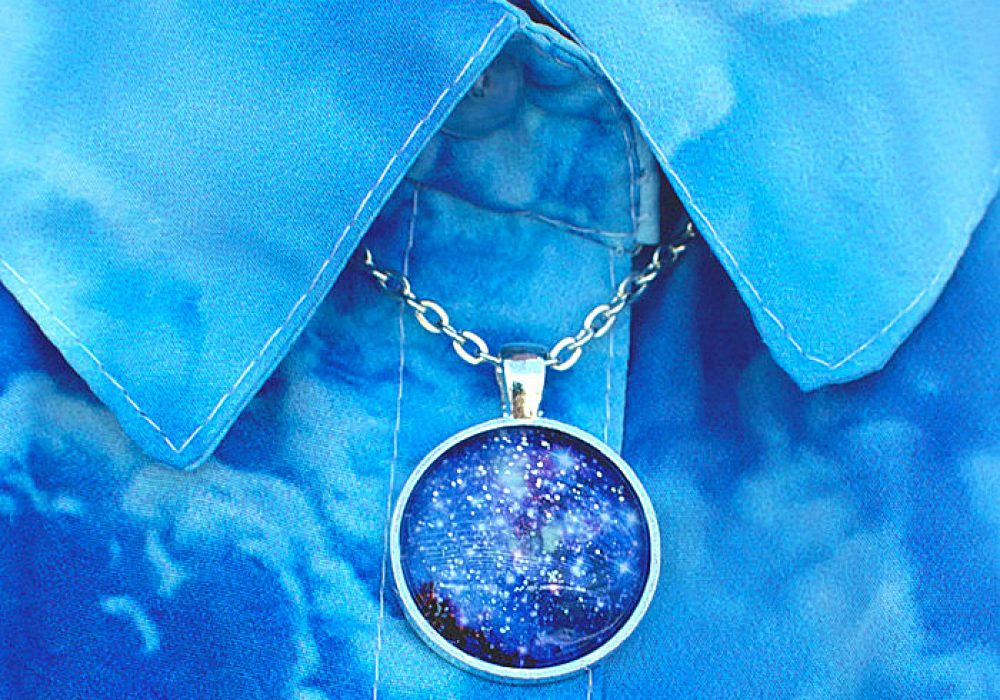 Hexafauna Glow in the Dark Galaxy Necklace Cute Stuff to Buy