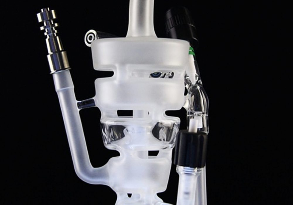 Hitman Glass Sandblasted Sundae Stack Torch Tube Bong