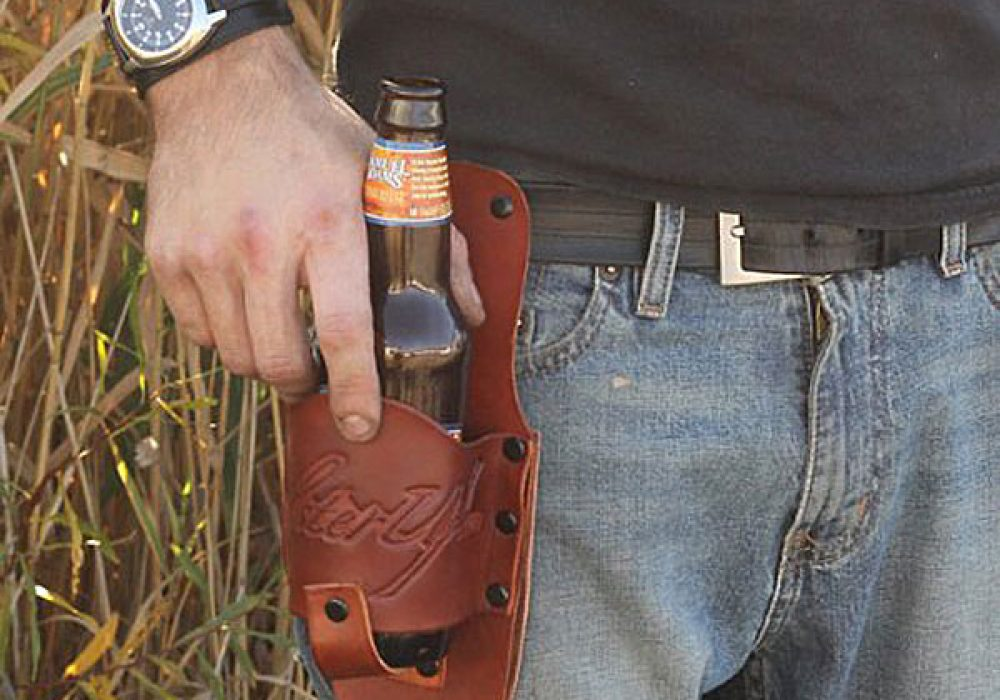 Holster Up Brown Leather Holster Boyfriend Gift Idea
