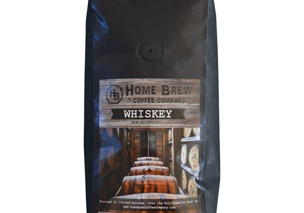 Home Brew Coffee Company Whiskey Barrel Aged Coffee Beans Good for Caffeine Lover
