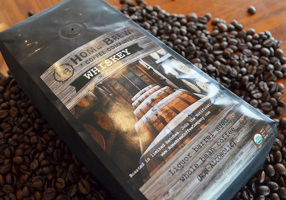 Home Brew Coffee Company Whiskey Barrel Aged Coffee Beans Nice Give away Gift