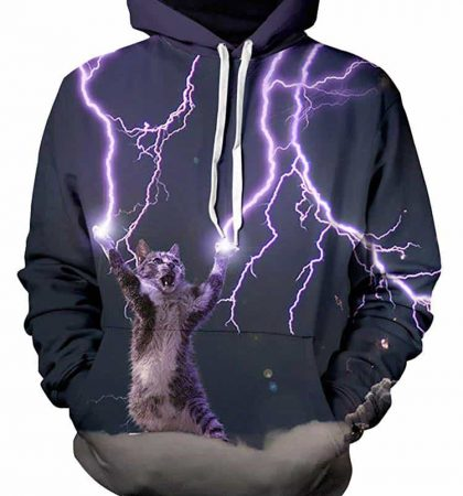Men Hoodies & Sweatshirts Cat Conjur Lightning