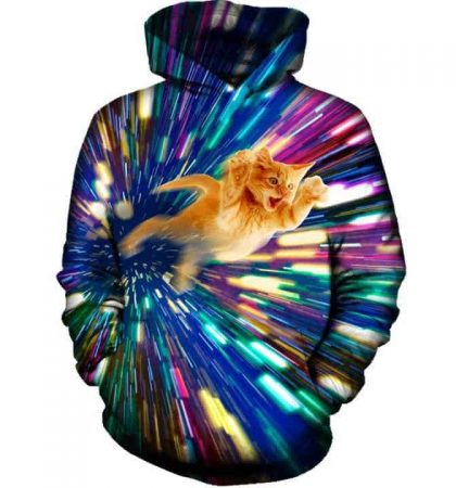 Men Hoodies & Sweatshirts Fast Cat Hyper Light Speed