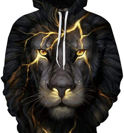 Men Hoodies & Sweatshirts Lion Lightning