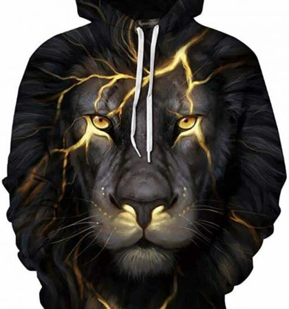 Men Hoodies & Sweatshirts Lion Lightning