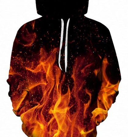 Men Hoodies & Sweatshirts Red Fire