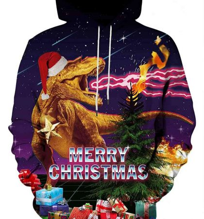 Men Hoodies & Sweatshirts T Rex Merry Christmas