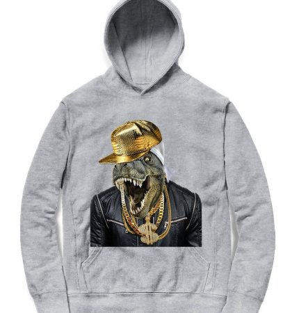 Men Hoodies & Sweatshirts Tyrannosaurus Rex Rapper as Hip Hop Artist