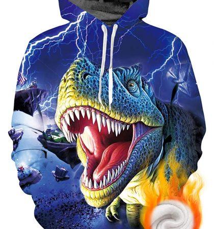 Men Hoodies & Sweatshirts Tyrannosaurus Rex Roaring