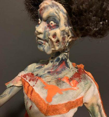Horror Cheerleader Zombie Barbie Art Doll
