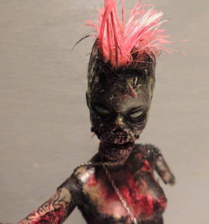 Hot Pink Mohawk Zarbie Zombie Barbie Doll