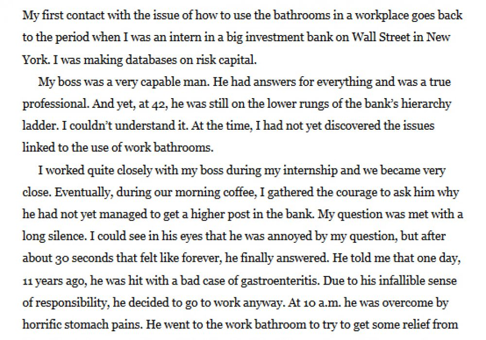 How to Poo at Work Preface Page The Man Who Ruined his Career